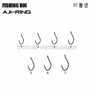 Крючок Fishing ROI Aji-Ring №1 (ушко)  11шт. (147-08-001)