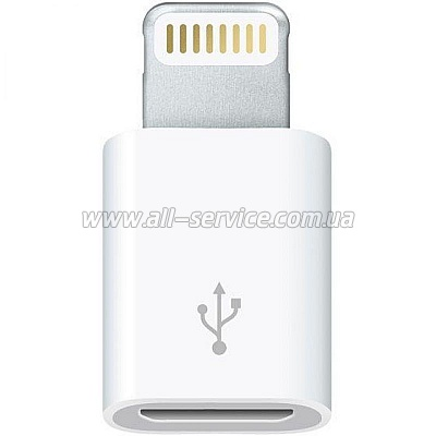Адаптер Apple Lightning to Micro USB (for iPod/ iPhone) (MD820ZM/A)