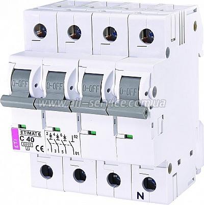 Автоматический выключатель ETI ETIMAT 6 3p+N C 40А (6 kA) (2146520)