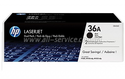Картридж HP LJ P1505/ M1120/ 1522 series DUAL PACK (CB436AD)