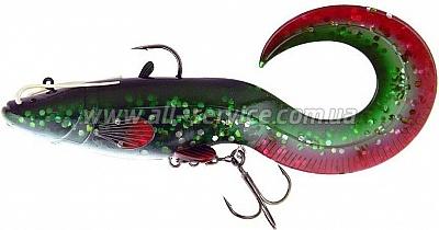 Виброхвост огруженный DAM Effzett Catfish Curl Tail 200мм 120гр (green)(5818102)