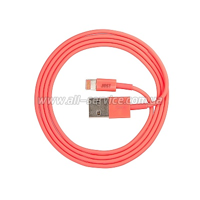 Кабель JUST Simple Lightning USB Cable Pink 1M (LGTNG-SMP10-PNK)