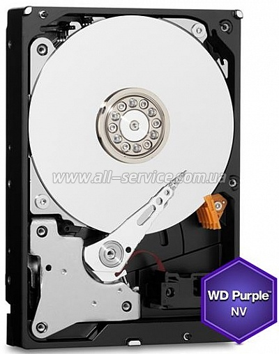 Винчестер 4TB WD 3.5 SATA 3.0 IntelliPower 64Mb Cache Purple NV (WD4NPURX)