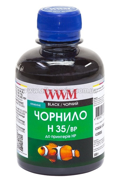 Чeрнила WWM (200 г) HP 21/121/129/130/131/132/140 (Black Pigmented) H35/BP