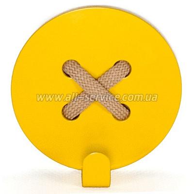 Вешалка настенная Glozis Button Yellow (H-023)