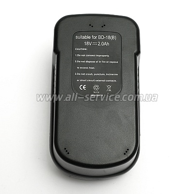 Аккумулятор PowerPlant для BLACK&DECKER GD-BD-18B 18V 2Ah NICD (DV00PT0027)