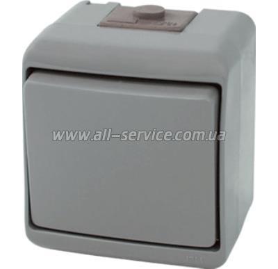 Выключатель ETI VHE-2-SR, IP44, серый (4668061)