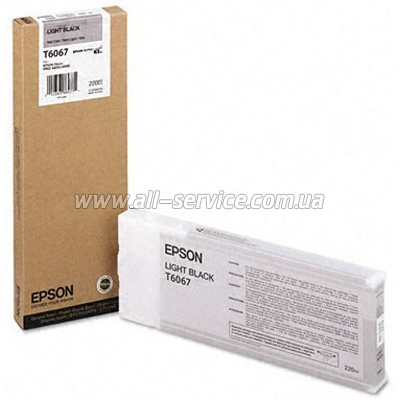 Картридж Epson StPro 4800/ 4880 light black, 220мл (C13T606700)