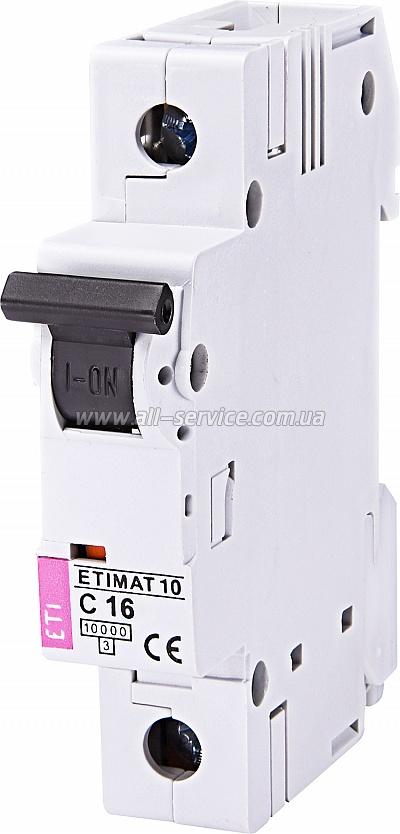 Автоматический выключатель ETIMAT 10 1p C 16А 10 kA (2131716)