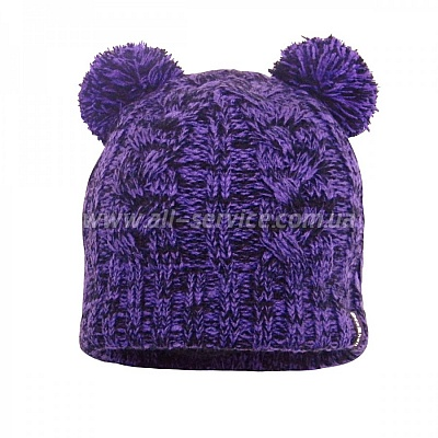 Шапка Dexshell Children beanie cable pom poms. фиолетовая