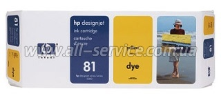 Картридж HP №81 DesignJ5000/ 5500 yellow C4933A