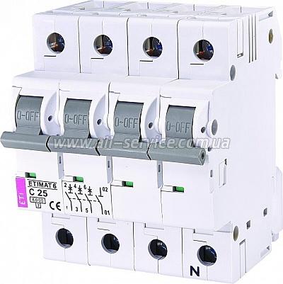 Автоматический выключатель ETI ETIMAT 6 3p+N C 25А (6 kA) (2146518)
