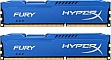 Память 2x8Gb KINGSTON HyperX OC KIT DDR3, 1866Mhz CL10 Fury Blue (HX318C10FK2/16)