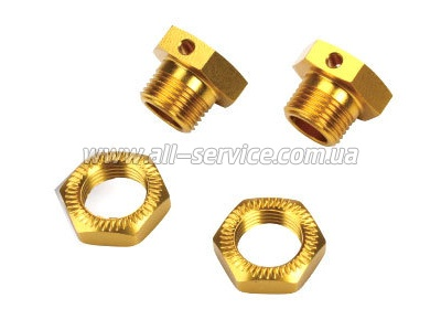 Team Magic E6 Serrated Wheel Adapter Set Gold 2p