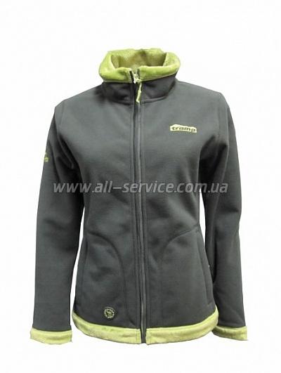 Женская куртка Tramp Бия XS Серый/зеленый (TRWF-001)