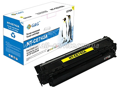 Картридж G&G для HP Color LJ CP5225/ CP5225N/ CP5225DN Yellow (G&G-CE742A)