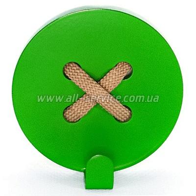 Вешалка настенная Glozis Button Green (H-026)