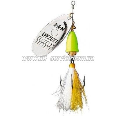Блесна-вертушка DAM Effzett Executor с бородкой 6гр (silver lemon) (5129203)