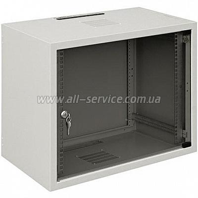19 шкаф 12U, глубина 600 мм., серый цвет (WZ-3715-01-03-011)