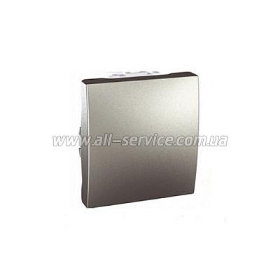 1-клавишный переключатель Schneider Electric Unica 10A Алюминий 2 мод.(MGU3.203.30)