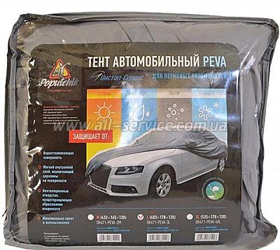 Тент автомобильный Poputchik 10-001-M M Серый