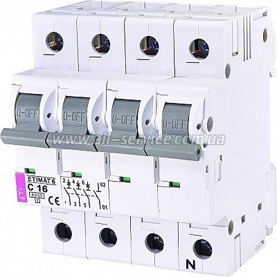 Автоматический выключатель ETI ETIMAT 6 3p+N C 16А (6 kA) (2146516)
