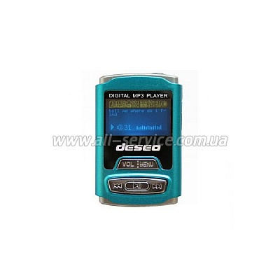 MP3 плеер TakeMS Deseo 2Gb turquoise (TMS2GMP3-DESEO2-T)