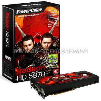 Видеокарта Powercolor 5970 2GB DDR5 (AX5970_2GBD5-MD)