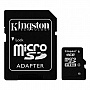 Карта памяти 4GB KINGSTON microSD Class 4 + SD адаптер (SDC4/4GB)