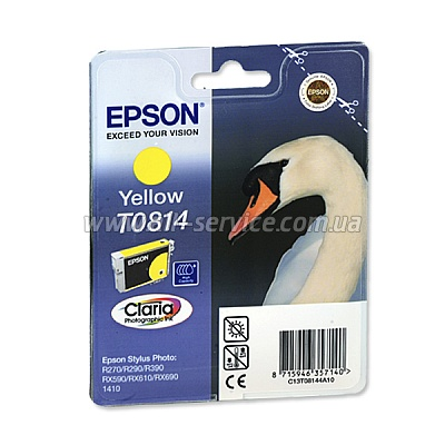 Картридж Epson St Photo R270/ R290/ R390/ RX590/ RX610/ RX690/ 1410 yellow, 11мл (C13T08144A10)