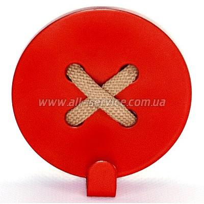 Вешалка настенная Glozis Button Red (H-024)
