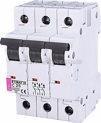Автоматический выключатель ETIMAT 103p C 25А 10 kA (2135718)