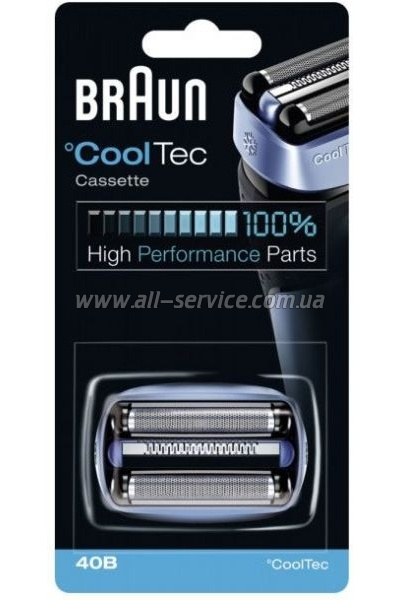 Бритвенная касета BRAUN CoolTec 40b