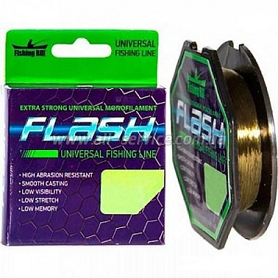 Леска Fishing ROI FlLASH Universal Line 100м 0,34мм 10.9кг  (47-00-034)