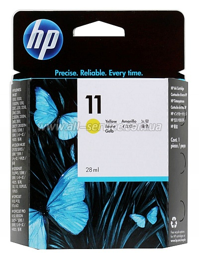 Картридж HP №11 DJ2200/ 2250/ cp1700 yellow (C4838A)