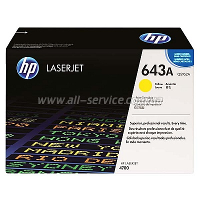 Картридж HP CLJ 4700 yellow (Q5952A)