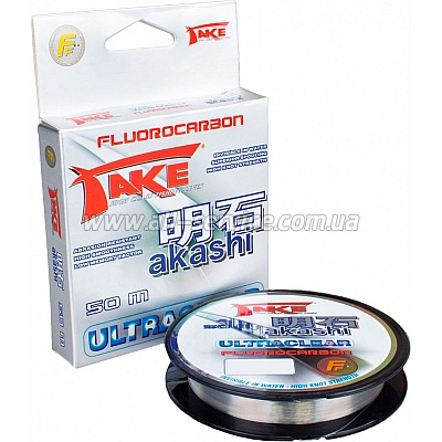Леска Lineaeffe Take AKASHI Fluorocarbon  50м. 0.28мм  FishTest 11.50кг  Made in Japan (3042128)