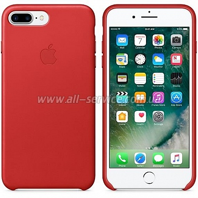 Чехол кожаный для iPhone 7 Plus PRODUCT RED (MMYK2ZM/A)