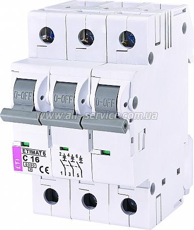 Автоматический выключатель ETIMAT 63p C 16А 6 kA (2145516)