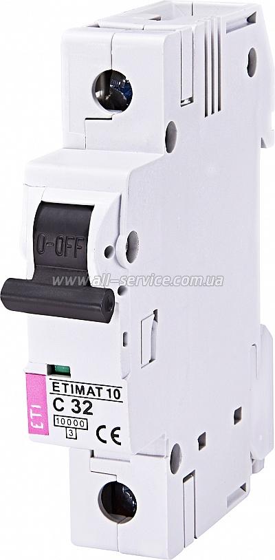 Автоматический выключатель ETIMAT 10 1p C 32А 10 kA (2131719)