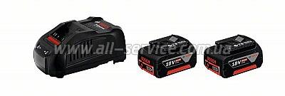 Набор аккумуляторов Bosch 18 В 5,0 Ач + зарядное устройство (1.600.A00.B8J)