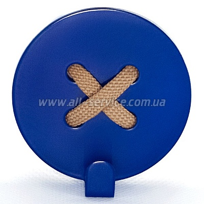 Вешалка настенная Glozis Button Blue (H-027)