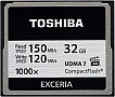 Карта памяти TOSHIBA Compact Flash 32 Gb 1000x (R150, W120MB/s)