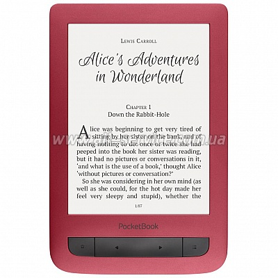 Электронная книга PocketBook 626 Touch Lux 3 (PB626 2 -R-CIS) Ruby Red