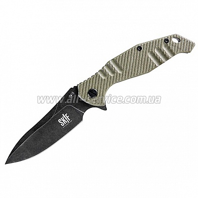 Нож SKIF Adventure G-10/Black SW green 424F