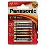 Батарейка Panasonic PRO POWER AA BLI 4 ALKALINE (LR6XEG/4BP)