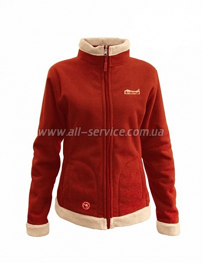 Женская куртка Tramp Бия L бежевый/алый (TRWF-001)