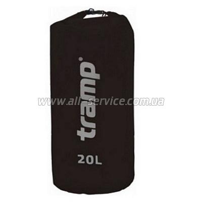 Гермомешок Tramp Nylon PVC 20 черный (TRA-102)