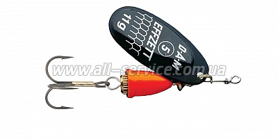 Блесна-вертушка DAM Effzett Executor 12гр (black fire) (5127311)