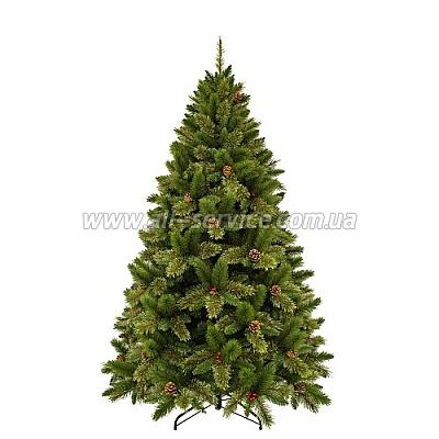 Искусственная ель Triumph Tree Edelman Dewberry, зеленая с декоративными шишками и ягодами ежевики, 2.30 м